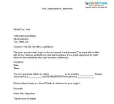 Sponsorship Request Letter  Ride  Them    Fundraising