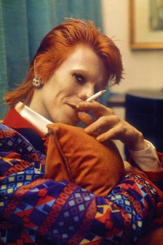The always colorful David Bowie, 1972