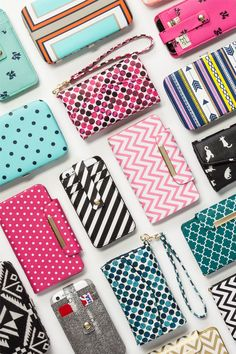 Totally hung up on these patterned tech cases. Not only do they offer on-the-go organization, your smartphone gets an impossibly cool wrapper, too.