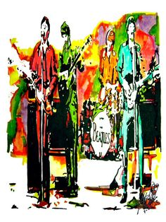 The Beatles POSTER from Original Dwg 18 x 24 by thesent on Etsy, $14.99