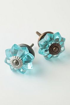 Aqua blue knobs for cabinetry. Knobs And Knockers, Knobs And Handles, Knobs And Pulls, Drawer Pulls, Dresser Knobs, Door Knobs, Cabinet Knobs, Cabinet Hardware, China Cabinet