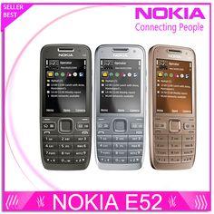 Refurbished E52 Original Nokia E52 WIFI GPS JAVA 3G Unlocked Mobile Phone handset russian keyboard phone Free Shipping
