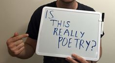 I will not write poems on the shitter For Tumblr or Twitter For Instagram views Or ribcage tattoos I will not write quirky quotables For scroll bar vegetables For boards on Pinterest Where fonts sp…