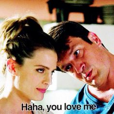 A good representation of their relationship. He drives her crazy but she loves him anyway.