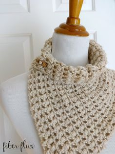 Free Crochet Pattern...French Vanilla Button Cowl! | Fiber Flux...Adventures in Stitching | Bloglovin'