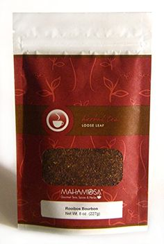 Mahamosa Rooibos Herbal Tea and Tea Filter Set 8 oz Rooibos Bourbon Rooibos Red Bush Tea 100 Loose Leaf Tea Filters Bundle 2 itemsTea ingredients Rooibos and vanilla flavor -- Check this awesome product by going to the link at the image.-It is an affiliate link to Amazon. #LooseLeafTea