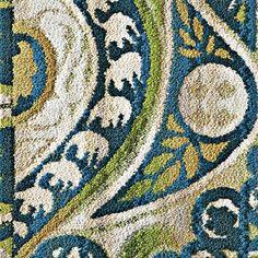 Blue and Green Swirls Carpet Tiles