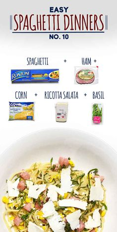Spaghetti with Corn, Ham, and Ricotta Salata | 19 Delicious Spaghetti ...