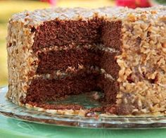 Trisha Yearwood's German Chocolate Cake With Coconut Frosting - Garth's favorite cake he always asks for this for his birthday
