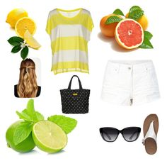 """Fruit-abulous!!"" by rcabercrombie ❤ liked on Polyvore featuring Elizabeth and James, Natasha Accessories, Majestic, FitFlop and Marc by Marc Jacobs"