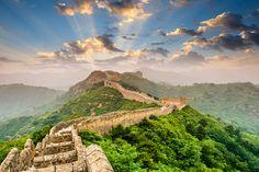 Die chinesische Mauer erstrahlt in intensiven Farben ! Livingwalls Fototapete 470609
