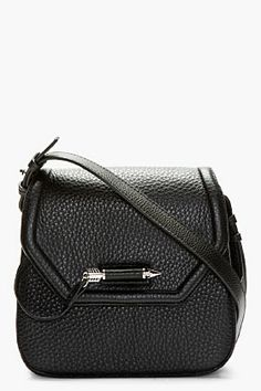 MACKAGE Black Pebbled Leather Cody Shoulder Bag