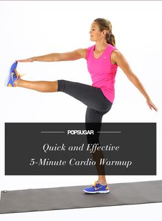 Five moves in five minutes! Your quick cardio warmup Check out the website for more