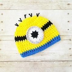 Crochet Minion Beanie Hat Newborn Baby Infant Toddler Child Adult Photography Photo Prop Handmade Baby Shower Gift