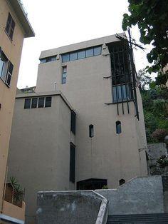 1956 - 1959 GENOVA CHIESA DELLA SACRA FAMIGLIA via Bobbio 21 B. by LUDOVICO QUARONI con A. DE CARLO, G. NANNELLI, Studio MOR e SIBILLA