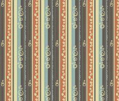 Coffee Stripes fabric by catru on Spoonflower - custom fabric