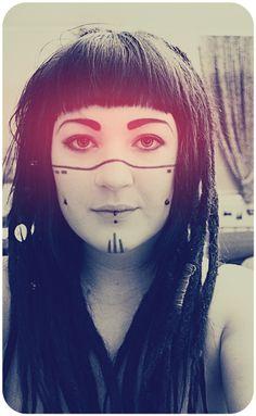 cyberpunk make up