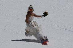 snowboarding trash the dress ideas #trashthedress #wedding