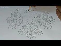 Rangoli Designs Latest, Simple Rangoli Designs Images, Rangoli Designs Flower, Small Rangoli Design, Rangoli Patterns, Rangoli Kolam Designs, Rangoli Designs With Dots, Flower Rangoli, Rangoli With Dots