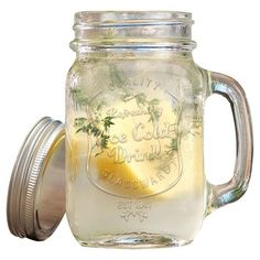 Mason jar glasses are a fun way to serve summer lemonade. | $16 for a set of four