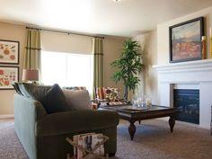 White fireplace mantel.