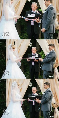 Fisherman's knot unity ceremony at a wedding in Gig Harbor, WA by Jenny Storment Photography