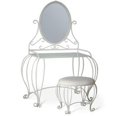 Vanity Table W/ Mirror and Stool