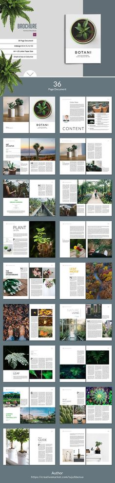 Botani Lookbook/Magazine by tujuhbenua on @creativemarket
