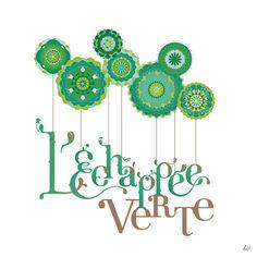 identity design by Maria Vittoria Benatti, L'Echappee Verte