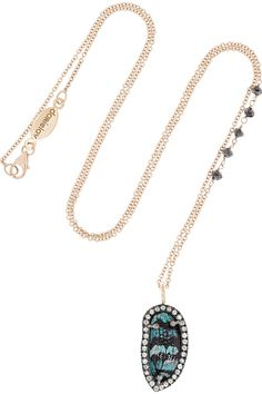 Daniela Villegas|Sister Sister 18-karat rose gold multi stone necklace|NET-A-PORTER.COM