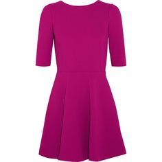 Dolce & Gabbana Stretch-wool crepe mini dress ($720) ❤ liked on Polyvore featuring dresses, vestidos, glamorous dresses, purple dress, half sleeve dresses, mini dress and short dresses