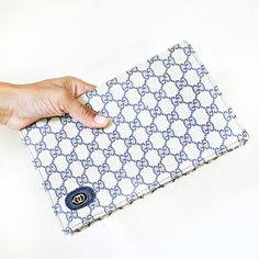 vintage 80s NAVY blue GUCCI clutch by PasseNouveauVintage on Etsy, $38.00