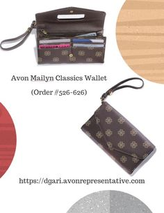 2-in-1! The Mailyn Classics Wallet doubles as a wristlet. Only $14.99 Get as gifts today! https://www.avon.com/product/mailyn-classics-wallet-56936?rep=dgari #avon #classic #wallet #wristlet #gift