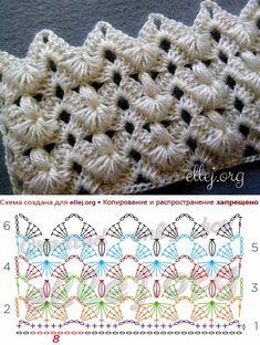 Вязалки Knitting Bordado Crochet Am Bordado - Diy Crafts - DIY & Crafts Crochet Stitches Chart, Crochet Symbols, Crochet Diagram, Afghan Crochet Patterns, Stitch Patterns, Knitting Patterns, Crochet Shell Pattern, Crochet Lace Edging, Crochet Projects