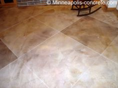 stained concrete for basement