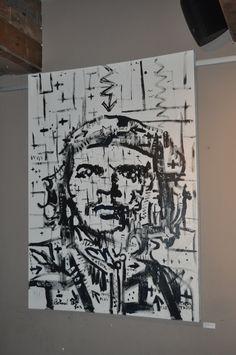Conrad Botha's Che Guevara. Oil on canvas. Art exhibition - 2012