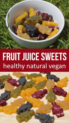 These fruit juice jelly sweets are made of just 3 ingredients; fruit juice, the seaweed agar agar and a sweetener. Vegan and healthy jelly sweets are quick and easy to make. Agar agar is a Vegan Sweets, Healthy Sweets, Healthy Cooking, Healthy Food, Raw Food, Healthy Eating, Vegetarian Recipes, Snack Recipes, Healthy Recipes