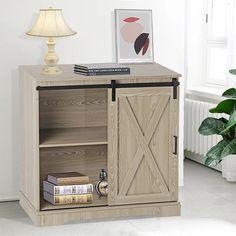 Gracie Oaks Ahmauri 1 - Door Accent Cabinet | Wayfair Wooden Tops, Modern Colors, Farmhouse Design, Guest Bath, Doors, Cabinet, Rustic Modern, Living Room, Storage