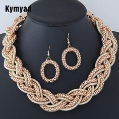Kymyad Trendy Jewelry Sets Handmade Statement Necklace Earrings Set Bijoux Femme Party Jewellery Women Accessory Jewelry Set-in Jewelry Sets from Jewelry & Accessories on Aliexpress.com | Alibaba Group