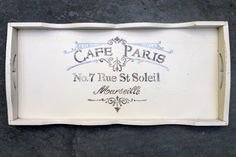 SOLD but can be made to order   Cafe Paris by BelleMaisonMarket