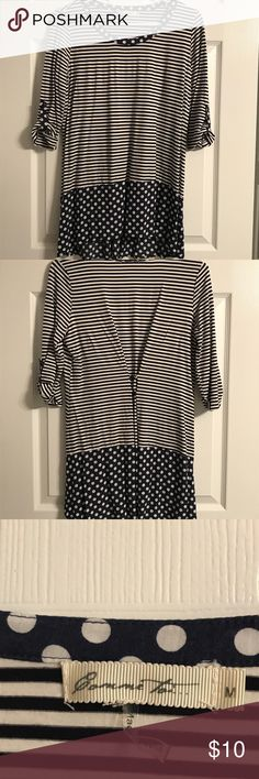 Cute Top Super cute! In great condition. Cute combo of strips and polka dots. Tops Tunics