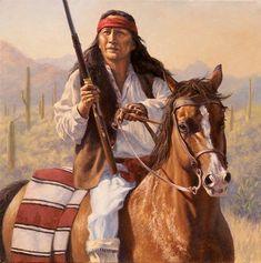 Apache Pride by Robert Copple kp Native American Face Paint, Native American Images, Native American Paintings, Native American Artists, Native American History, Indian Paintings, Native American Indians, American Life, Apache Indian