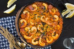 This simple Shrimp and Chorizo Paella is easy to make, has classic Spanish flavors and is an impressive crowd pleaser. Spanish Dishes, Spanish Rice, Spanish Cuisine, Spanish Shrimp, Chorizo Recipes, Shrimp Recipes, Spanish Paella Recipe, Easy Spanish Recipes, French Recipes