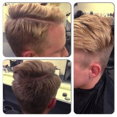 Mens cut, line on the top