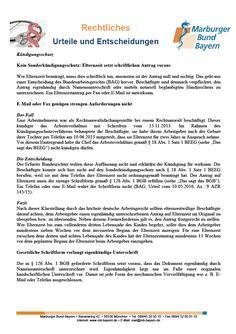 #Kuendigungsschutz: Kein Sonderkündigungsschutz: Elternzeit setzt schriftlichen Antrag voraus (BAG, Urteil vom 10.05.2016, Az.: 9 AZR 145/15)