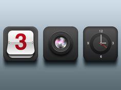 Dark Icons designed by Davide Pacilio. App Icon Design, Ui Design, Logo Clipart, Home Icon, Symbol Logo, Mobile Ui, Homescreen, Design Inspiration, Clock
