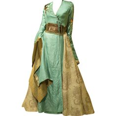 Tube Perruque ❤ liked on Polyvore featuring dresses, gowns, long dress, medieval and costumes