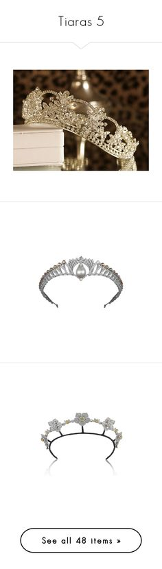 """""""Tiaras 5"""" by schaetzchen95 ❤ liked on Polyvore featuring pictures, backgrounds, accessories, photos, pics, tiara, tiaras, jewelry, crown and hair"""