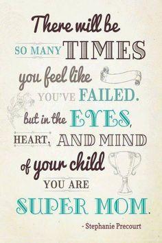 You are super mom!