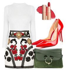 """red voice"" by byzaya ❤ liked on Polyvore featuring Dolce&Gabbana and J.W. Anderson"